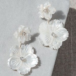 Anthropologie Double Blossom Earrings